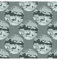 seamless pattern abstract circles vector image