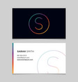 business-card-letter-s vector image