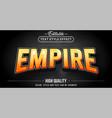 3d empire theme text effect - editable text effect