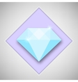 Abstract creative concept icon of diamond vector image vector image