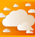 abstract speech bubbles in shape clouds vector image