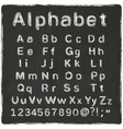 alphabet old black board vector image vector image