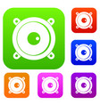 audio speaker set color collection vector image vector image