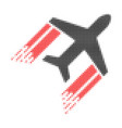 aviation halftone dotted icon with fast rush vector image vector image