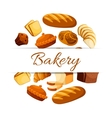 Bakery poster with wheat and rye bread vector image vector image