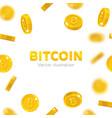 bitcoin gold coins falling vector image vector image
