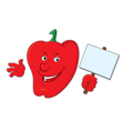 cartoon bell pepper vector image vector image