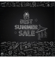 Chalk board Summer Sale vector image vector image