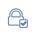 check lock padlock password private secure icon vector image vector image