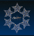 christmas and new year copper star decoration card vector image vector image