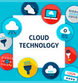 cloud technology template vector image vector image