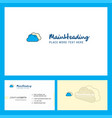clouds logo design with tagline front and back vector image vector image