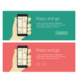 Concepts flat design web banners and promotion for vector image vector image
