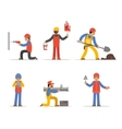 Construction worker architect and engineer vector image vector image