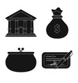 design of bank and money sign set of bank vector image