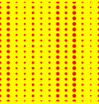 duotone red yellow pop art polka dot dotted vector image vector image
