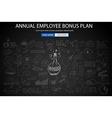 Employee Bonus Benefit Plan concept with Doodle vector image