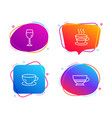 espresso coffee cup and wine glass icons set vector image vector image