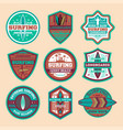 extreme surfing camp vintage isolated label set vector image vector image