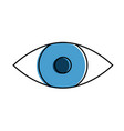 eye human isolated icon vector image vector image