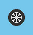 flat car wheel isolated icon on blue vector image vector image