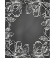 floral frame on chalkboard vector image vector image