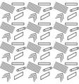 geometric seamless pattern trendy memphis design vector image