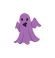 ghost cartoon halloween character vector image