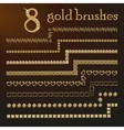 Golden design brushes set vector image