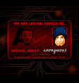 Hacker ID card vector image vector image