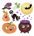 halloween goods hand drawn cartoon vector image vector image