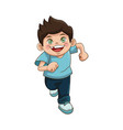 happy boy cartoon kid emotion smile image vector image
