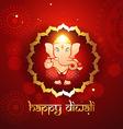 hindu lord ganesh vector image vector image