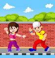 hip hop dancer cartoon vector image