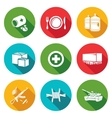 Humanitarian relief Icons Set vector image vector image