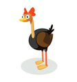 icon ostrich vector image vector image