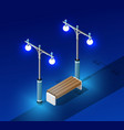 isometric night light lighting vector image