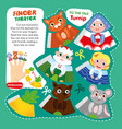 kid tale finger theater game printable template vector image vector image