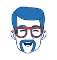 man face character smiling with blue hair and vector image vector image