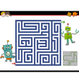 maze activity for kids vector image