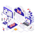 modern 5g internet isometric concept vector image vector image