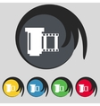 negative films icon symbol Set of colourful vector image
