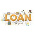 personal loan vector image vector image