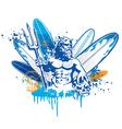 Poseidon surfer vector image