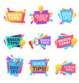 quick tip helpful tricks and advice blog vector image