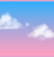 realistic cloud white nubes fluffy sky fog vector image vector image