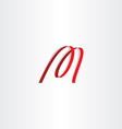 red ribbon letter m logo icon vector image vector image