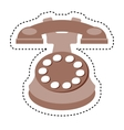 retro telephone isolated icon vector image vector image