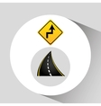 reverse turn road sign concept graphic vector image vector image