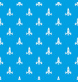 rocket ship pattern seamless blue vector image vector image